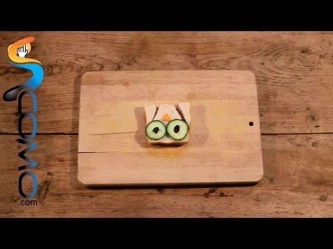 Meriendas divertidas con estos sándwiches en forma de búho