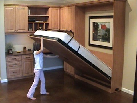 Easy to open close murphy wall bed youtube - Bunk beds that fold into wall ...