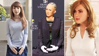 All Best Female  Humanoid Robots Until 2018.