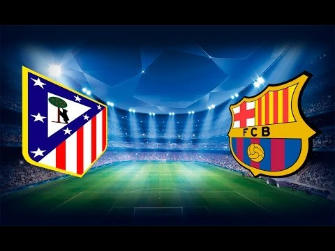 Atletico Madrid VS Barcelona simulacion FIFA 14 UEFA Champions League
