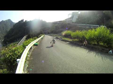 Downhill Skateboarding â—‰ Japan/dh Camping 6-7Jul'13