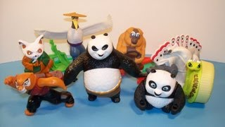 2011 KUNG FU PANDA 2 SET Of 8 McDONALD'S HAPPY MEAL TOY'S