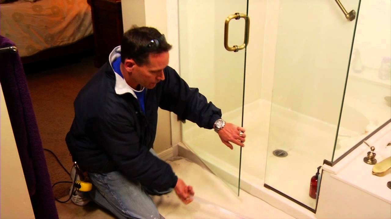 Replacing An Old Glass Shower Sweep Mobile Diy Youtube