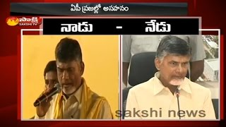Watch : Chandrababu's comments before and after election