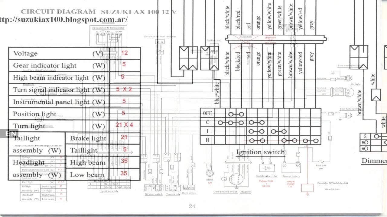 ax100 suzuki wiring diagram  suzuki  auto wiring diagram