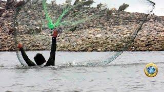 Captura de peces con atarraya