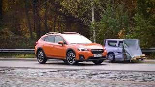 Subaru XV 2017: тест автоторможения системы EyeSight на полигоне. Видео тесты За Рулем.