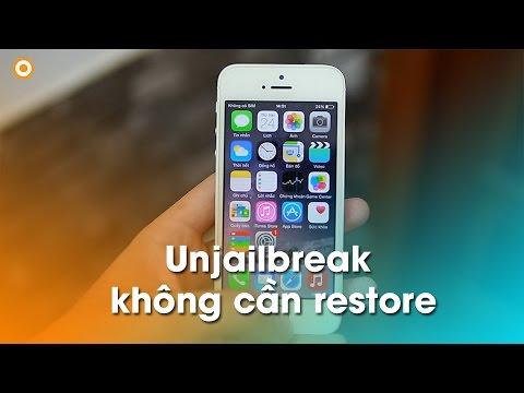 Unjailbreak iPhone, iPad không cần restore: Chuyện nhỏ!