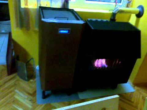 pellet burner for wood stoves (gorionik na pelete instaliran na pec na drva)