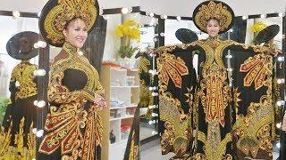 Quốc phục thi hoa hậu của Phi Thanh Vân gây ngỡ ngàng