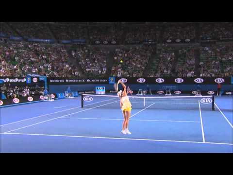 Wozniacki serves a shocker - 2014 Australian Open