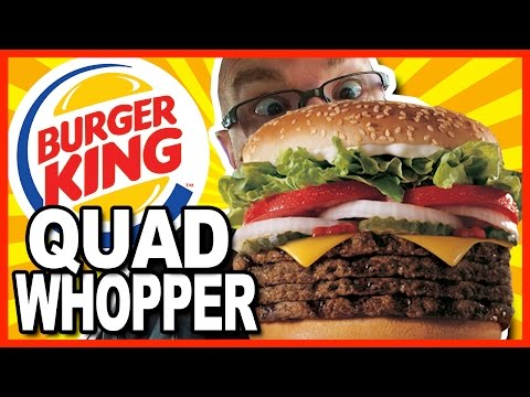 Burger King QUAD WHOPPER with Bacon and Cheese - Review & Drive - Through Test