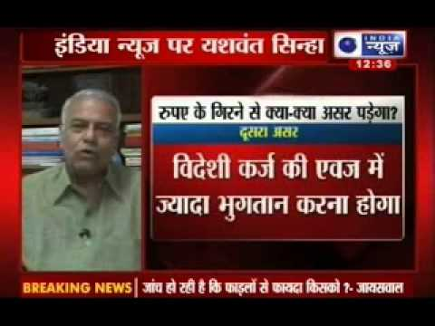 Yashwant Sinha on India News