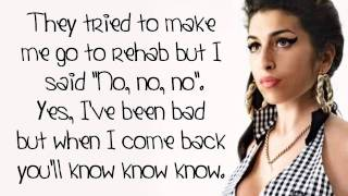 Amy Winehouse Rehab Lyrics On Screen (HD)