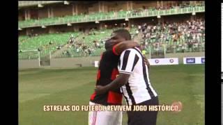 Estrelas do futebol revivem jogo hist�rico entre Atl�tico e Flamengo em BH