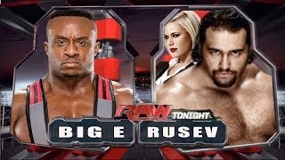 WWE RAW 2014 Alexander Rusev Vs Big E Full Match HD