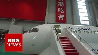 A tour of China's first big passenger jet - the C919 - BBC News