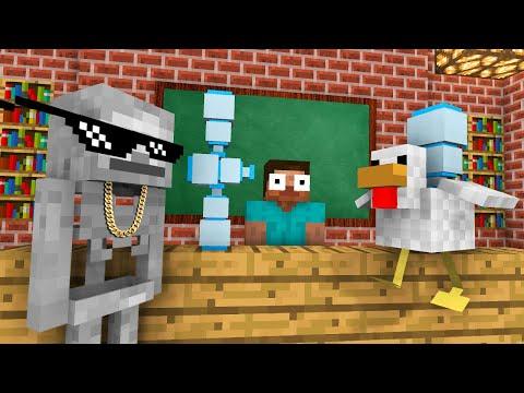 Monster School : WATER BOTTLE FLIP Challenge - Funny Minecraft Animation