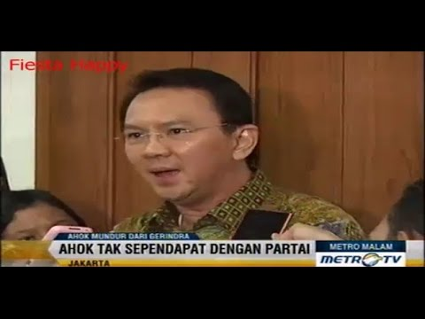 Ahok Keluar dari Partai Gerindra 11 September 2014