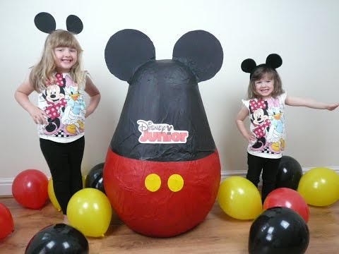 Disney Junior Videos SUPER GIANT Surprise Egg The Worlds Biggest Ever Mickey Clubhouse Doc McStuffin