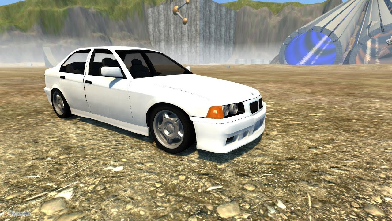 beamng drive alpha crash testing 10 bmw e36 m3 sedan beta hd youtube. Black Bedroom Furniture Sets. Home Design Ideas