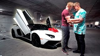 I BOUGHT MY BROTHER HIS DREAM CAR **LAMBORGHINI AVENTADOR** (emotional)