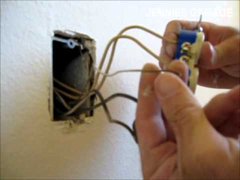 gfci switch wiring diagram how to replace an old electrical outlet wall plug  how to replace an old electrical outlet wall plug