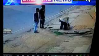 CCTV Video: Man Mowed down by Auto in Karnatka