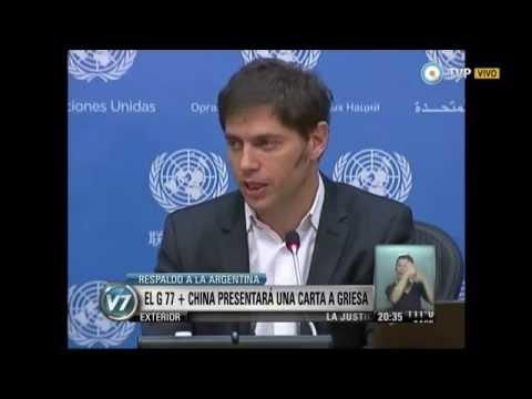 Visión 7 - Respaldo a la Argentina: El G77 + China presentó una carta a Griesa