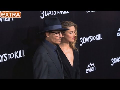 Amber Heard and Johnny Depp's Date Night at '3 Days to Kill Premiere'