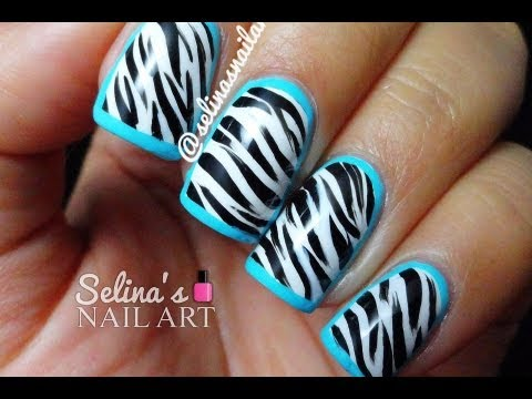Nail Art Zebra Print Tutorial Nail Art Designs