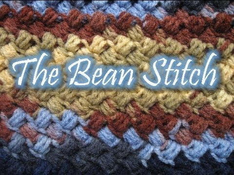 Crochet Stitches Tutorial Youtube : The Bean Stitch - Crochet Tutorial - YouTube
