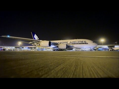 Airbus 380 Arrival at Delhi Airport-Extended Version