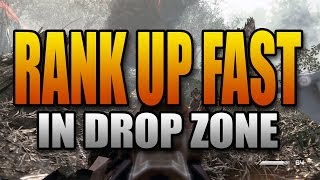New Way to Rank up Fast in Ghosts! Drop Zone is CRAZY XP! (Call of Duty Best Game Mode Level Up)