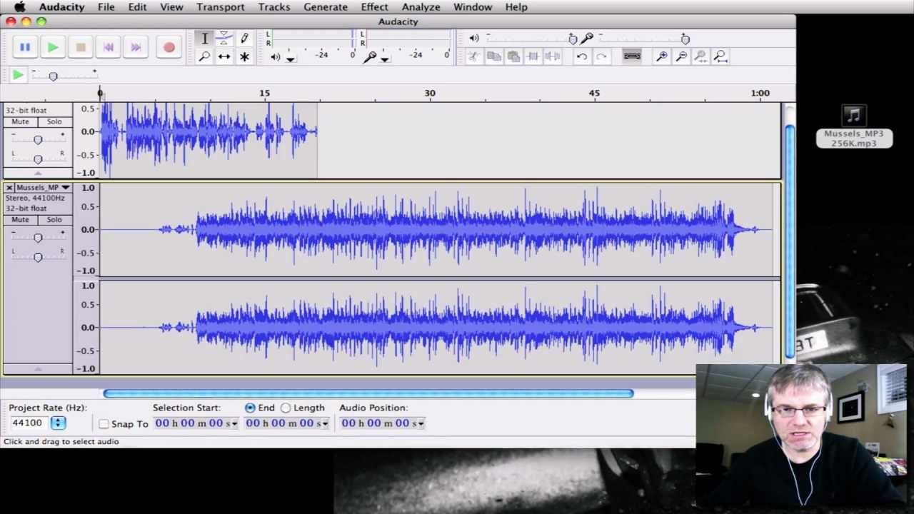 how to add a track in audacity