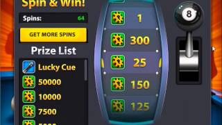 8 Ball Pool Multiplayer Spin & Win 100 Tries !!
