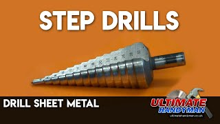 Drill thin metal using stepdrills