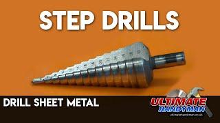 Drill thin metal using stepdrills