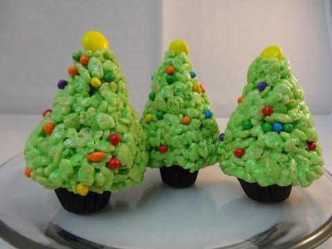 Rice Krispies Cereal Treat Christmas Trees