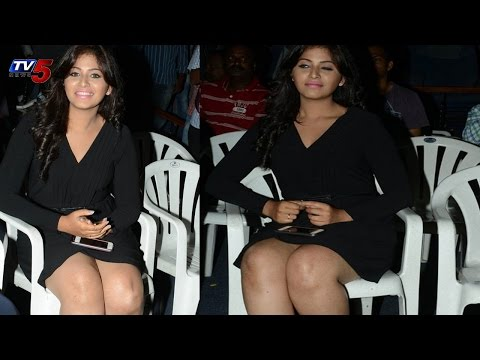 Anjali Hot in Black Dress | Geetanjali Movie Audio Launch : TV5 News
