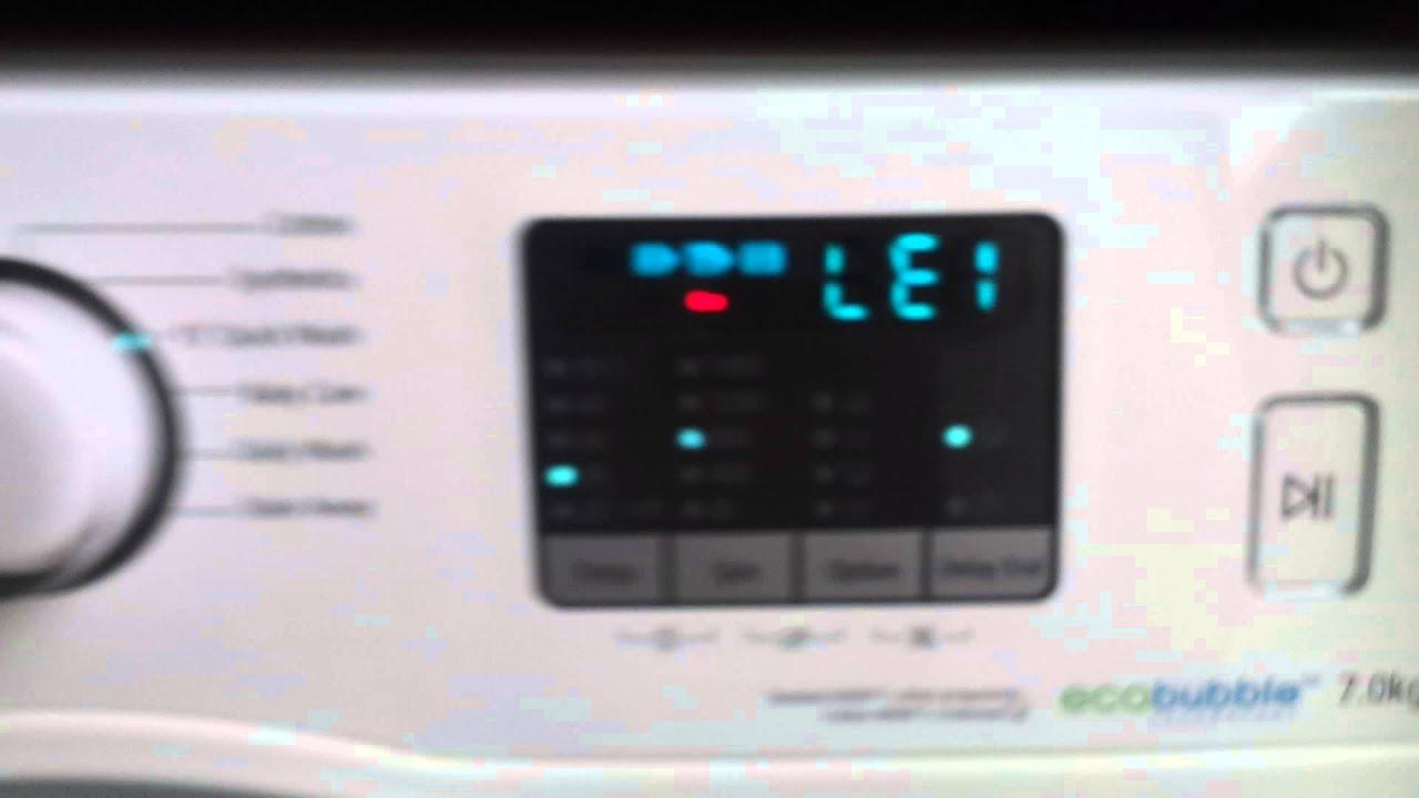 samsung washing machine code nd