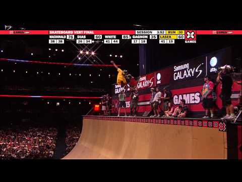 X Games 16 - Pierre Luc Gagnon nails his run in Skateboard Vert to Win three-peat Gold
