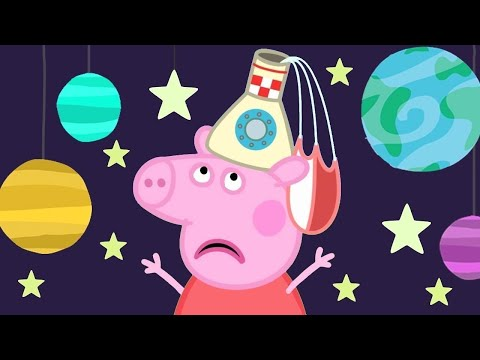 Peppa Pig Full Episodes | Peppa Pig's Fun Time At The Space Museum | Kids Video
