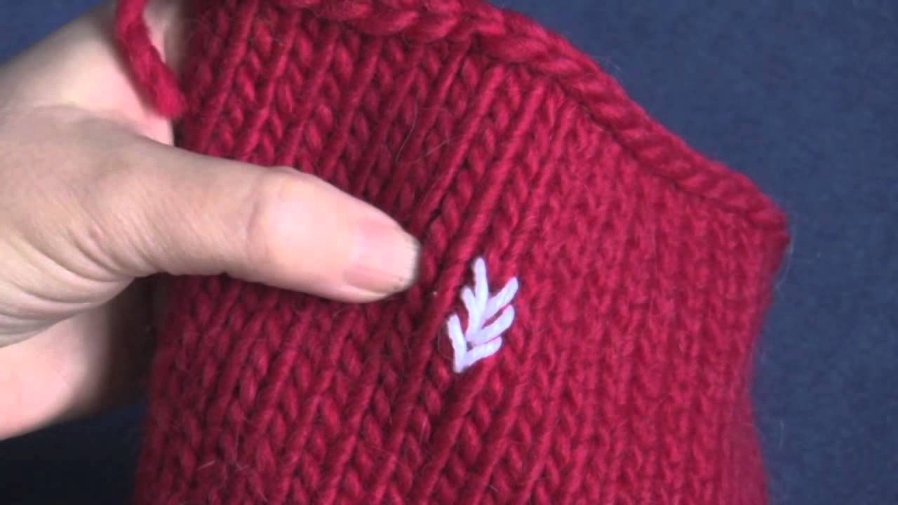 Knitting Stitch In Needlepoint : Learn How to Do Duplicate Stitch Embroidery on Knits - YouTube