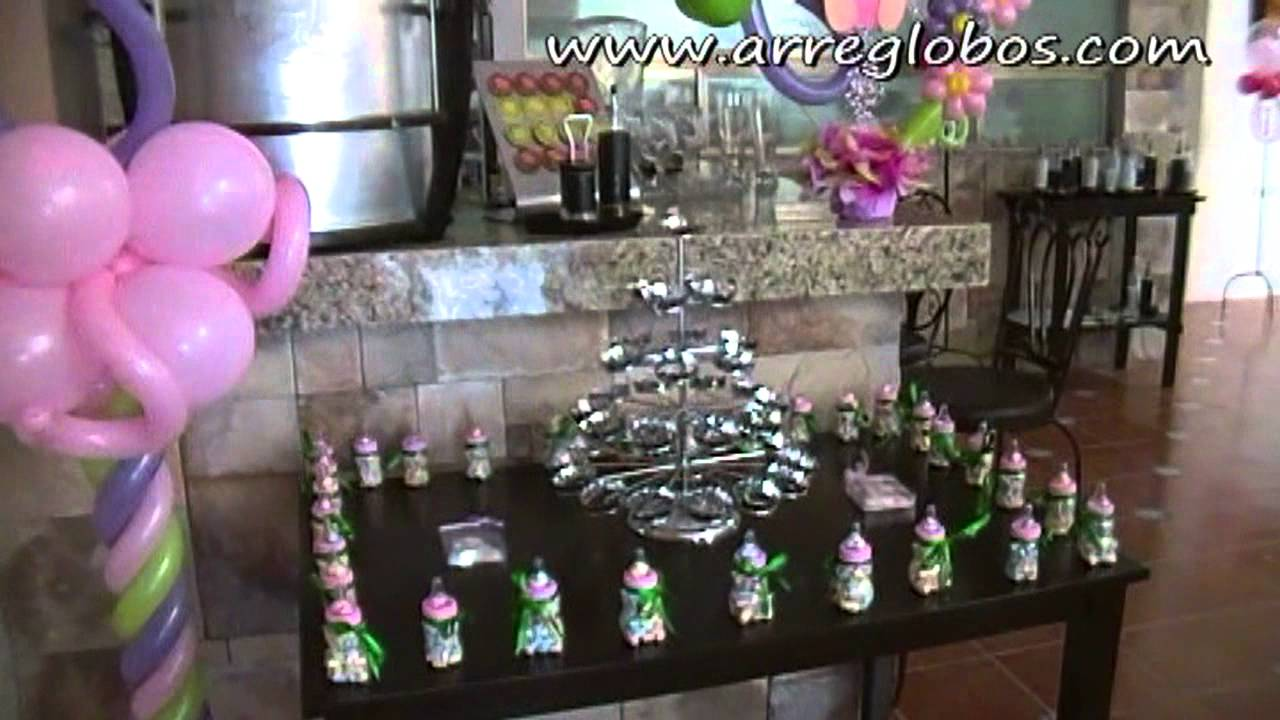 decoraci n con globos para baby shower youtube