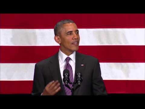 Obama mocks climate skeptics at LCV dinner