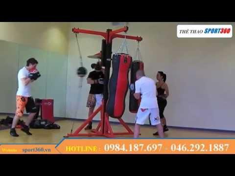 Khung treo bao đấm boxing đa năng 4 đầu