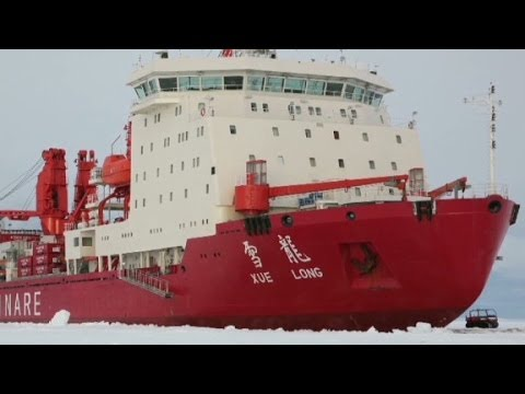 Icebreaker gets stuck on way to rescue trapped ship