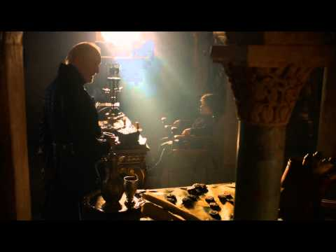 Tywin Lannister talks to Jaime, Tyrion, and Cersei.