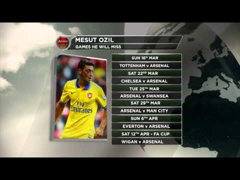 FC Arsenal sechs Wochen ohne Mesut Özil   Verletzung nach 1:1 gegen FC Bayern München